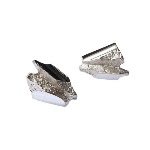 Vintage silver earrings Jagged Rocks