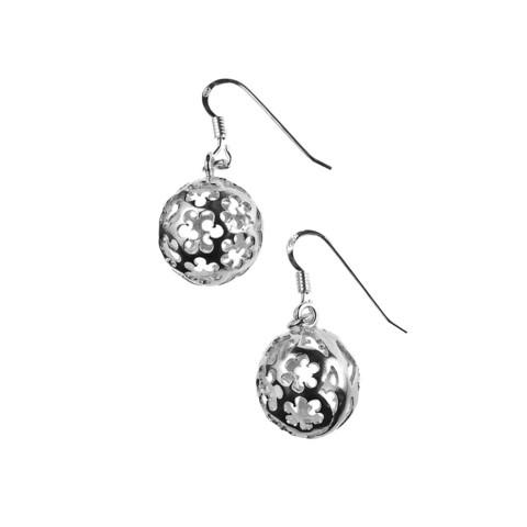 Eco silver earrings Meadow Flowers