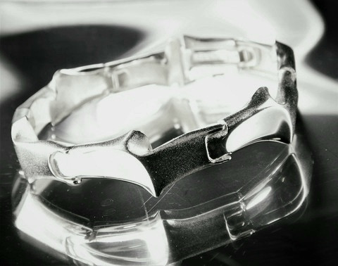 Vintage silver bracelet Time Machine