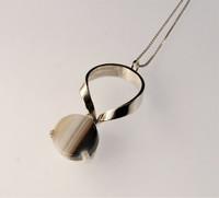 A vintage silver pendant