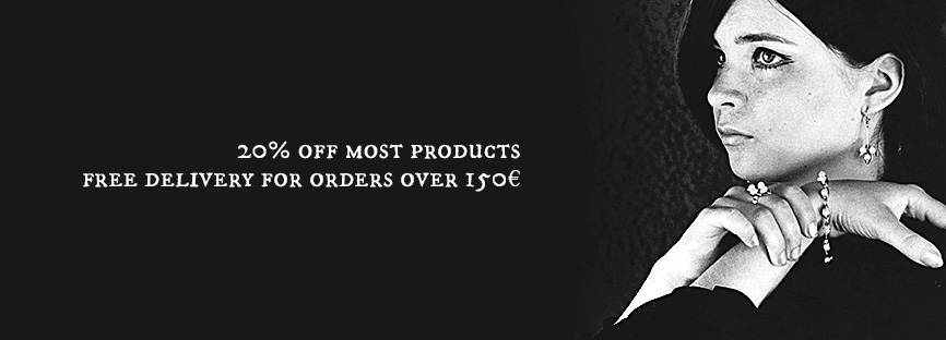 20% off all products. Free delivery on orders over 150€.