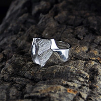 Vintage silver ring Windforms in Snow