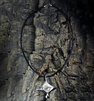 Vintage silver pendant Swan