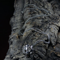 Silver pendant Bacchanal