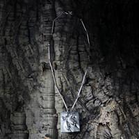 Vintage silver pendant Frost Flower