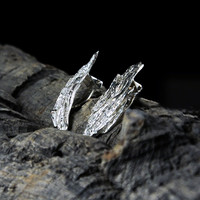 Vintage silver earrings Freezing February