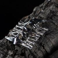 Vintage silver pendant Lichen