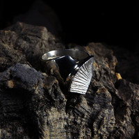 Vintage silver ring Ice Heart