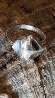 Hopeinen vintage sormus Silver Rose