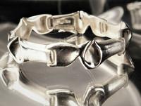 Vintage silver bracelet Glacier Trek