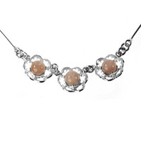 Ecosilver necklace Meadow Flowers