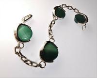 Vintage agate and silver bracelet