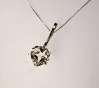 Vintage rock crystal pendant
