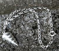 Spiral conch sea shell bracelet