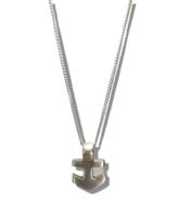 Anchor pendant of eco silver