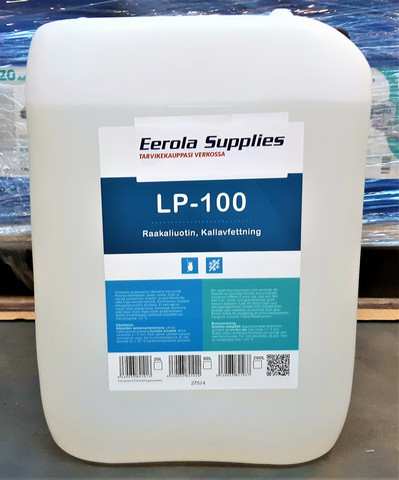 LP-100 raakaliuotin 20l, pien, noen, öljyn ja rasvan poistoon