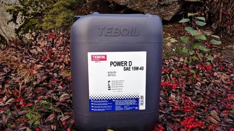 Teboil Power D 15W-40 moottoriöljy 20l