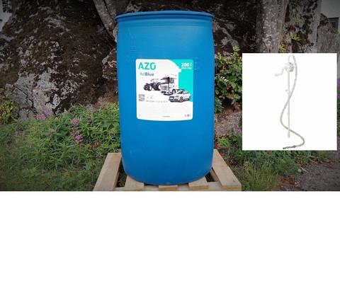Tuotepaketti! AdBlue 200l + veivattava tynnyripumppu