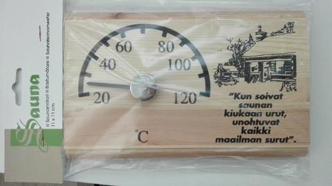 Saunamittari, puinen 12 x 18 cm
