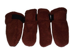 Fleece boots, brown