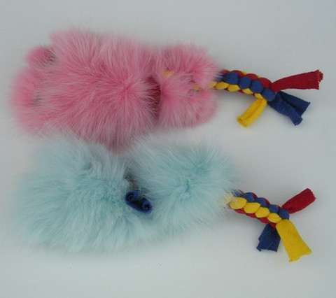 Braided Rope Toy with Fur