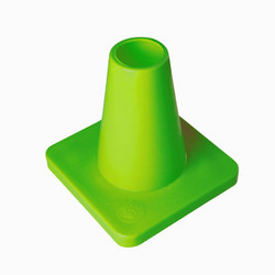 Weighted 15 cm marker cone, lime