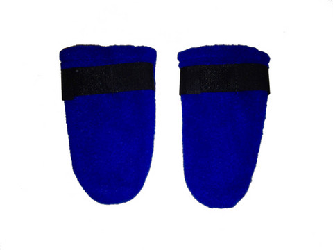 Fleece boots, Blue