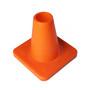 Weighted 15 cm marker cone, orange
