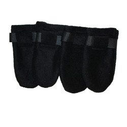 Fleece boots, Black