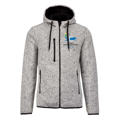 LADIES' HEATHER HOODED JACKET GREY MELANGE