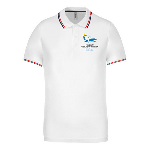 Men´s short sleeved  polo shirt White