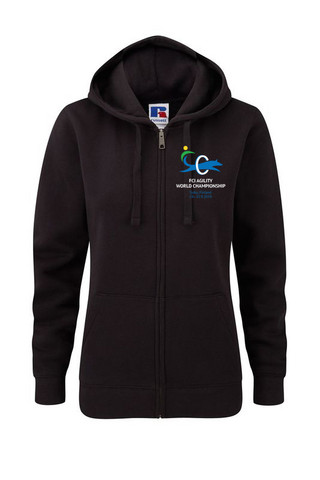 Women´s Premium AUTHENTIC Full Zip Hooded Black