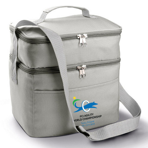 Double compartment cool bag Light Grey