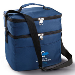 Double compartment cool bag Navy
