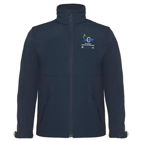 Lasten Softshell hupullinen takki  Navy