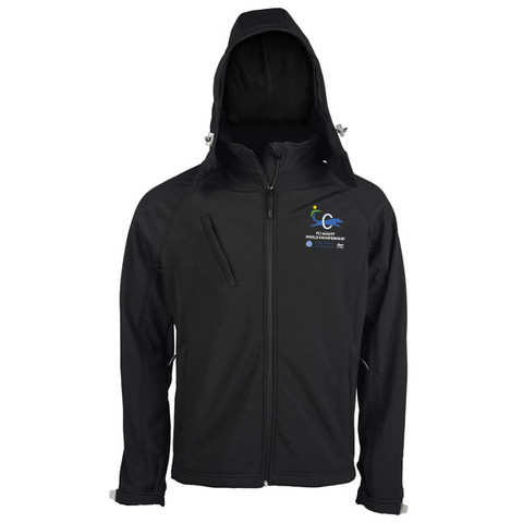 Mens` hooded Softshell Jacket Black