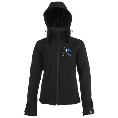 Ladies` Hooded Softshell Jacket Black