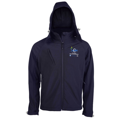 Mens` hooded Softshell Jacket Navy