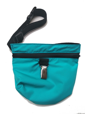 Treat bag and belt Turquoise with a clip