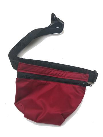 Treat bag and belt Wine Red