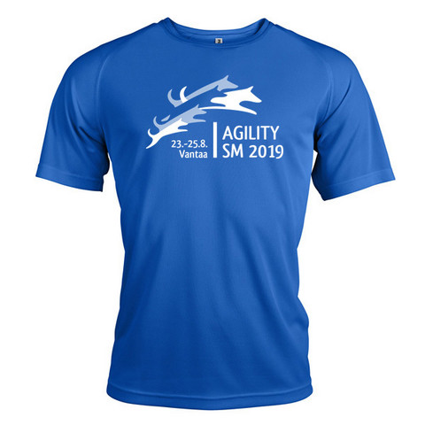 Unisex Tekninen T-Paita Sporty Blue