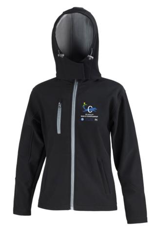Women´s hooded Core Softshell Jacket Black/Grey