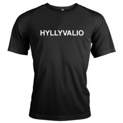 Unisex Tekninen T-Paita Musta Hyllyvalio