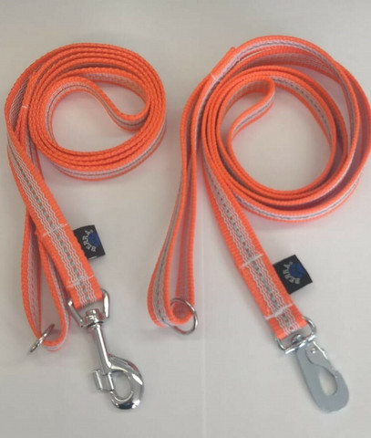 Powergrip 1,8m leash Orange White reflex  20mm