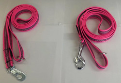 Powergrip 1,8m leash Pink Black reflex  20mm