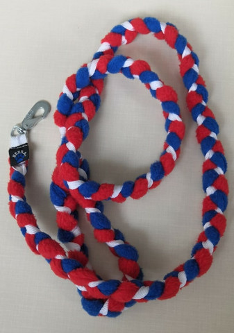 Fleece leash 160 cm BGB Red-Blue-White