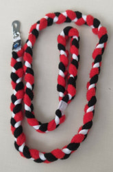 Fleece leash 160 cm BGB Black-Red-White