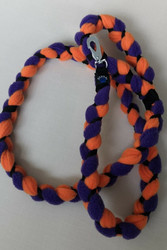 Fleece leash 160 cm BGB Orange-Lilac-Black