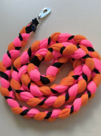Fleece leash 160 cm BGB Pink-Orange-Black