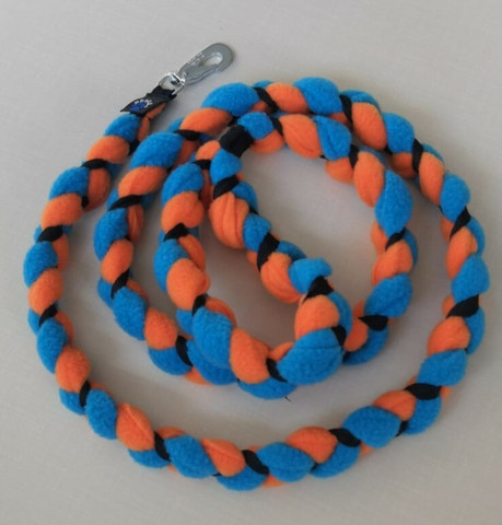 Fleece leash 160 cm BGB Turquoise-Oranssi-Black
